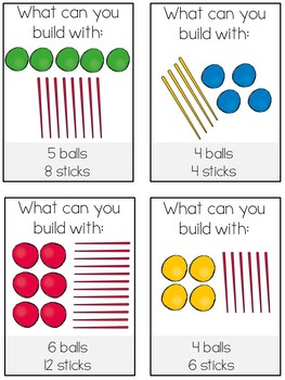 Building Shapes Task Cards: 2D & 3D Shapes