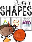 Building Shapes Task Cards: 2D & 3D Shapes STEM Activity