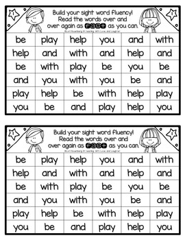 Building Sight Word Fluency {For Use With First Grade Journeys}