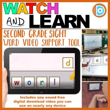 RTI | Second Grade Sight Word Fluency Tool | World