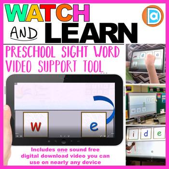 Building Sight Words | Video Resource | Kindergarten | We
