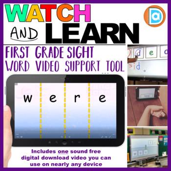 RTI | Kindergarten & First Grade Sight Word Fluency Tool | Were