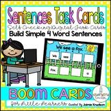 Building Simple Sentences / Digital Task Cards / Boom Cards