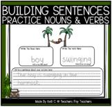Building Sentences Worksheets - Nouns and Verbs