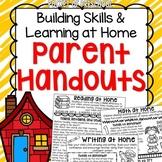Parent Handouts for Preschool, Pre-K, and Kindergarten