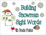 Building Snowman Sight Words