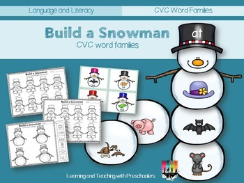 Building Snowman CVC Word Families