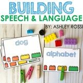 Speech and Language BUILDING BRICKS activities