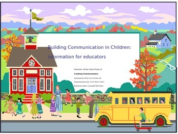 Building Speech and Language Skills- Powerpoint