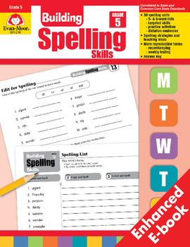 Building Spelling Skills, Grade 5 - Teacher's Edition, E-book