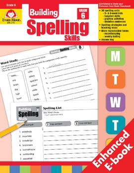 Building Spelling Skills, Grade 6 - Teacher's Edition, E-book