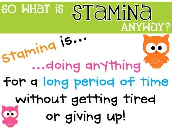 Building Stamina {FREEBIE}