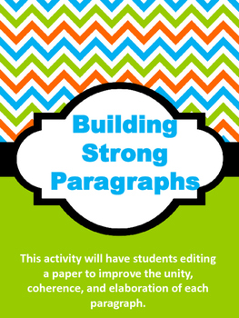 Building Strong Paragraphs