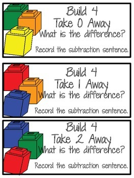 Building Subtraction Math Small Groups