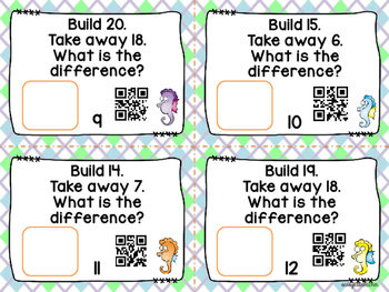 Building Subtraction with Unifix Cubes and QR