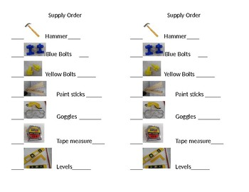 Building Supply Order