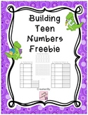 Building Teen Numbers Freebie