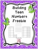 Building Teen Numbers Freebie