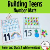 Building Teens Number Mats