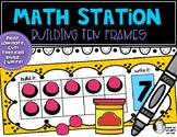 Math Stations: Build Ten Frames & Double Ten Frames Common Core Kinder & First