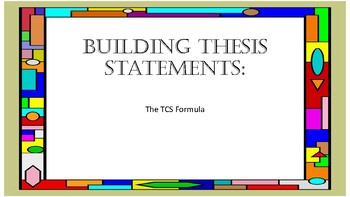 Building Thesis Statements-Common Core Aligned-TNReady Aligned