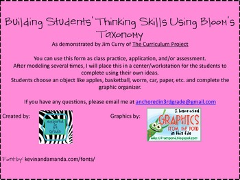 Building Thinking Skills Using Bloom's Taxonomy