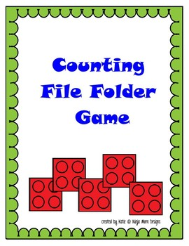 Building Toy File Folder Game Pack- 10 GAMES- LOW PREP