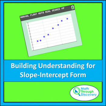 Building Understanding For Slope Intercept Form By Math Through