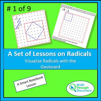 Algebra:  Visualize Radicals with the Geoboard