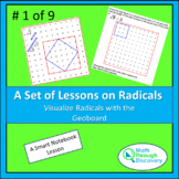 Algebra 1 - Visualize Radicals with the Geoboard