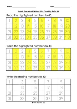 Building Up Skip Counting By 2s To 100