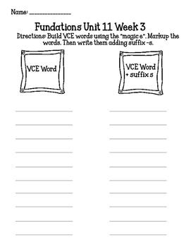 Building VCE Words Activity/Center