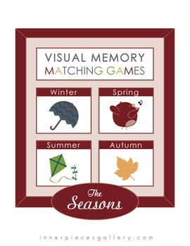Visual Memory Matching Games For Every Month with Thanksgiving, Winter and More