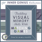 Visual Memory Matching Games For Every Month with Thanksgi