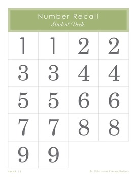 Building Visual Memory Skills with Number Recall