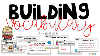 Building Vocabulary Freebie