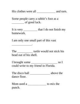 Building Vocabulary A