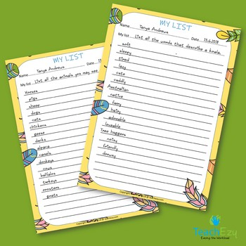 Building Vocabulary Cards FREE resource