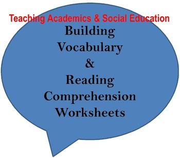 Building Vocabulary & Reading Comprehension