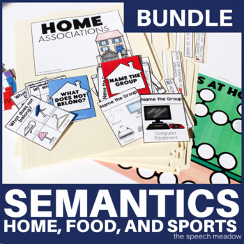 Building Vocabulary & Semantic Relationships Bundle