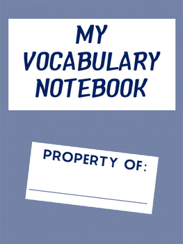Building Vocabulary Student Notebooks