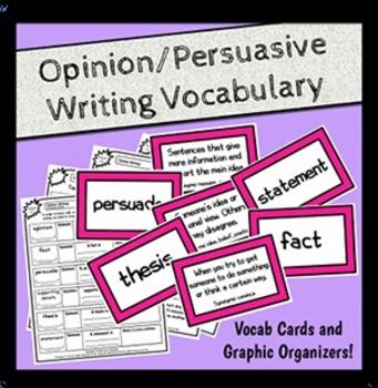 Persuasive Writing Vocabulary Study (Opinion Writing Vocab