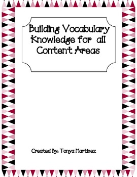 Building Vocabulary in CORE Content Areas