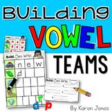 Building Vowel Teams {Dry Erase/Magnetic Letter Center}