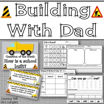 Building With Dad KINDERGARTEN Unit 6 Week 1