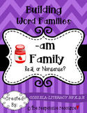 Building Word Families: Real or Nonsense? -am Family