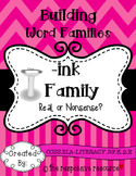 Building Word Families: Real or Nonsense? -ink Family