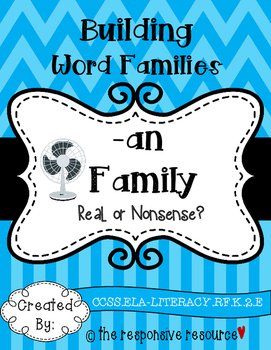 Building Word Families: Real or Nonsense? -an Family FREEBIE!