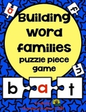 Word Families- puzzle piece game