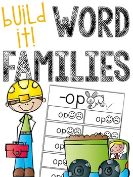 Build-It Word Families (Creating Real and Nonsense Words)